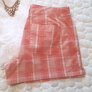Orange and White Gingham Summer Shorts Size 5